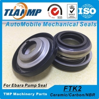 FTK2 20 Auto Cooling Pump Mechanical Seals For EBARA Pump Material Ceramic Carbon NBR Shaft Size