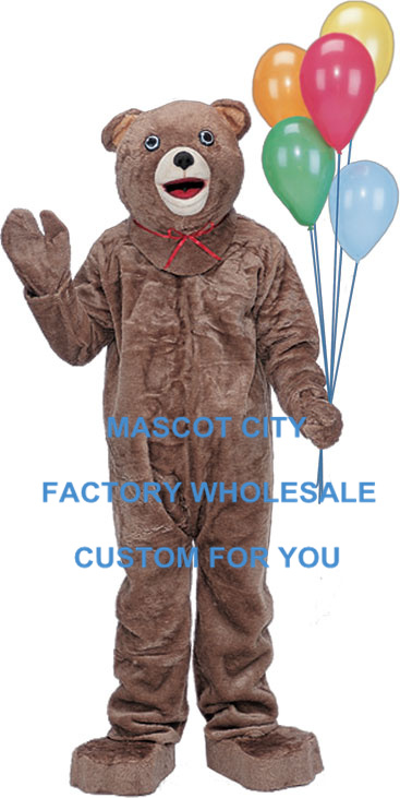 Holiday Bear Mascotte Costume Party Carnival Celebration Costume Bear Mascota Outfit Suit Party Carnival Fancy Dress SW520