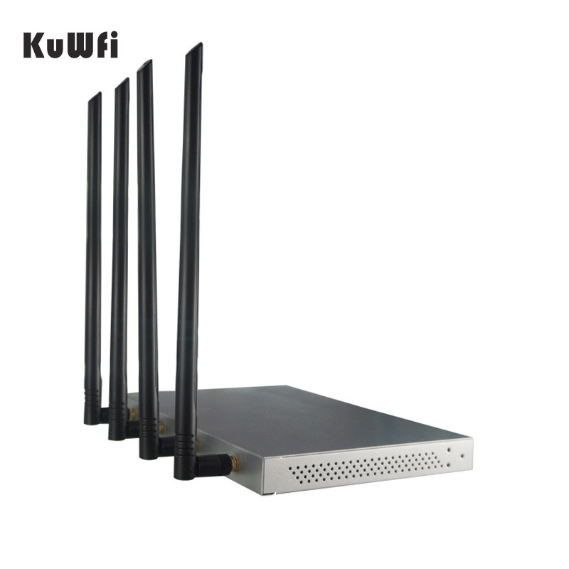 Image 2 - KuWFi OpenWrt 1200Mbps Long Range Wireless AP 1W High Power Wireless Router 2.4G 5.8G Dual Band Wifi Router 4*7dBi Antennas-in Wireless Routers from Computer & Office