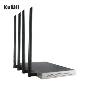 Image 2 - KuWFi OpenWrt 1200Mbps Long Range Wireless AP 1W High Power Wireless Router 2.4G 5.8G Dual Band Wifi Router 4*7dBi Antennas