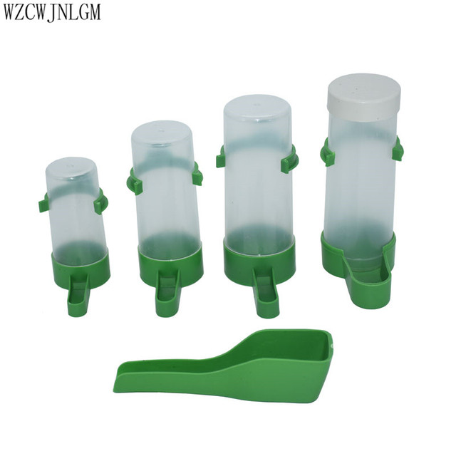 Parrot Bird Drinker Feeder Watering Plastic with Clip for Aviary Budgie Cockatiel 60ml 90ml 140ml 150ml 2pcs