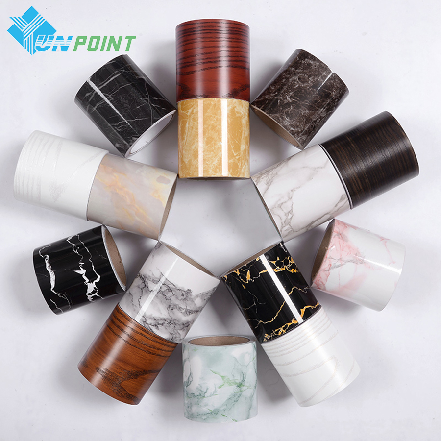 1M Κλασική αυτοκόλλητη ετικέττα μαρμάρινου τοίχου Καθιστικό PVC PVC μέλισσα Αυτοκόλλητη ταινία Μπάνιο κεραμίδι Αδιάβροχη ταπετσαρία Διακόσμηση συνόρων