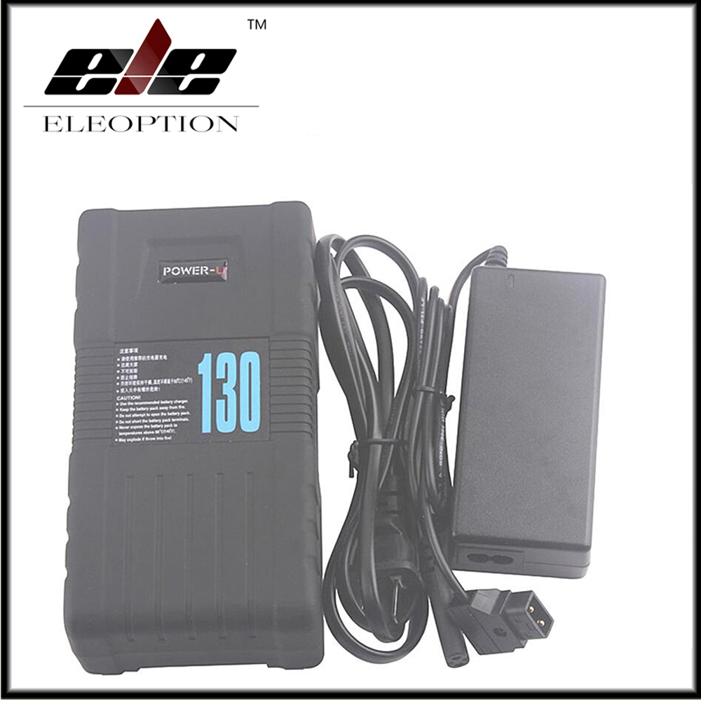 BP-130S POWER-U V-Mount Rechargeable Li-ion Battery For SONY 600p 650P 14.4V With Charger high quality bp 130s 130wh power u 14 8v 130w v mount li ion battery for sony 600p 650p