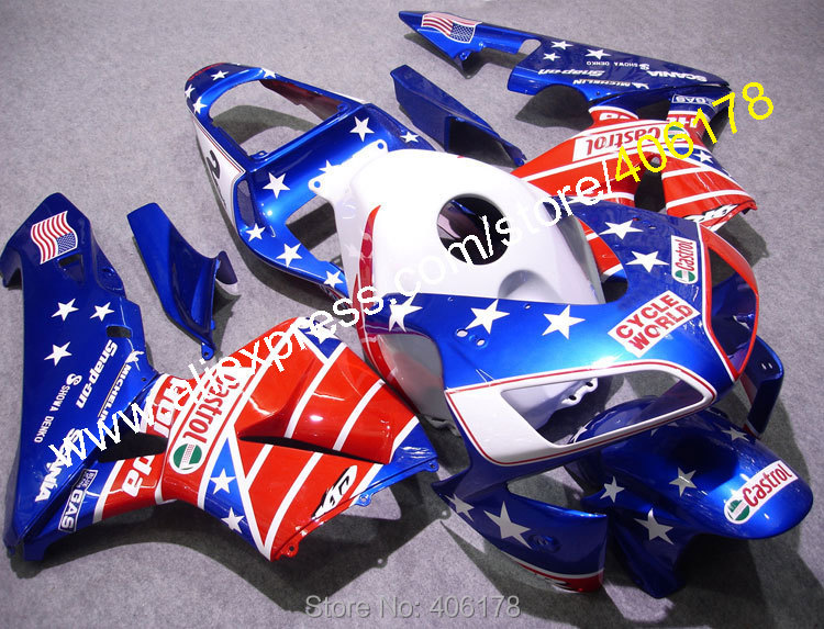 Hot Sales,cbr 600 rr 2003 F5 fairing For Honda CBR600RR 2003 2004 USA Flag Motorcycle Cheap Fairings Kit (Injection molding) hot sales for honda cbr600rr f5 2003 2004 cbr 600rr 03 04 red white black complete street motorcycle fairing injection molding