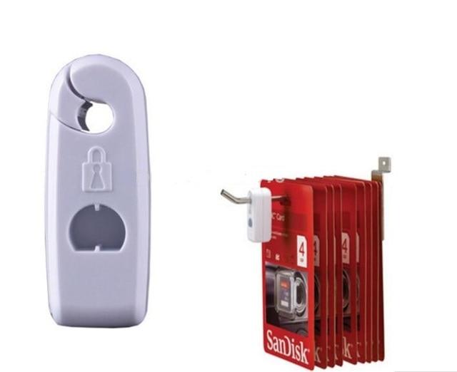 100PCS White Dia 6mm Flexible locking hooks popular Stop Lock for stem in Supermarket or retail shop