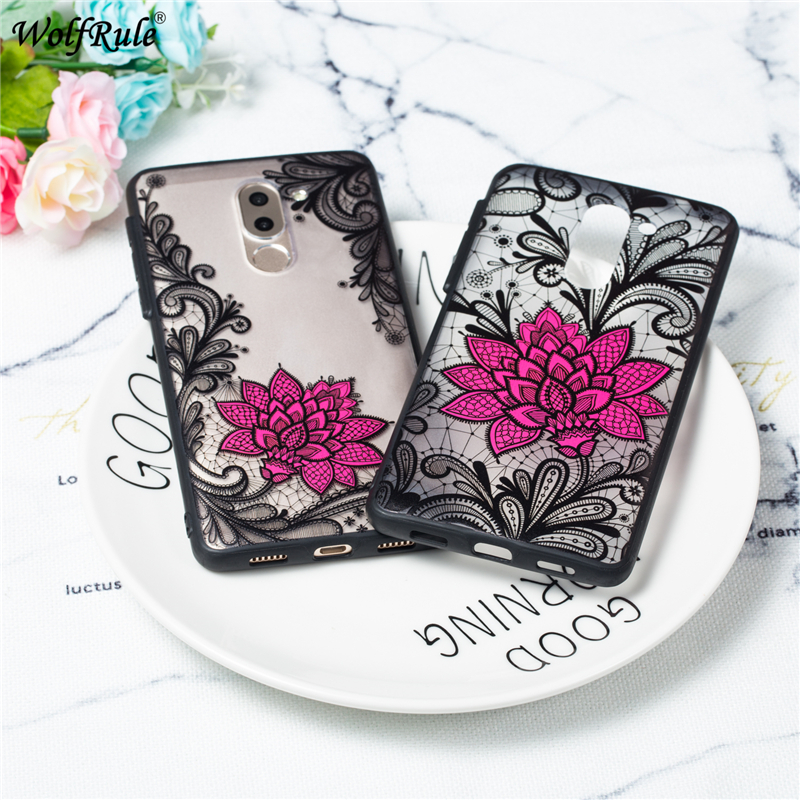 3D Relief Floral <font><b>Case</b></font> For Huawei <font><b>Honor</b></font> <font><b>6X</b></font> <font><b>Case</b></font> Thin Girly <font><b>Sexy</b></font> TPU + PC <font><b>Phone</b></font> Cover For Huawei GR5 2017/Mate 9 Lite <font><b>Case</b></font> Honor6X image