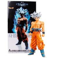 26 cm PVC Dragon Ball Super Ultra instinto GOKU Jiren figura Migatte figura de acción juguetes modelo blanco Goku God DBZ figurines
