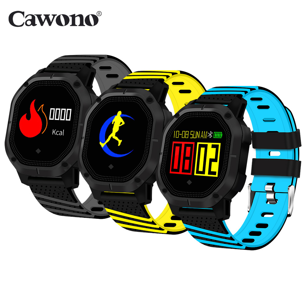 Cawono K5 Intelligente Wristband Del Braccialetto 1.0 ''OLED Sangue Monitor di Frequenza Cardiaca Push Messaggio Impermeabile IP68 Nuoto Ciclismo Smartwatch