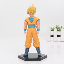 Dragon ball Z Figure Tien shinhan Super Saiyan Yellow Black hair Son Goku Action Figure Dragonball Collection Model Doll Toys(China)