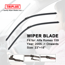Wiper Blade for ALFA ROMEO 159 (2005-onwards) 1 set 23″+18″,Flat Aero Windscreen Wiper,Boneless Windshield Soft Wiper Blades