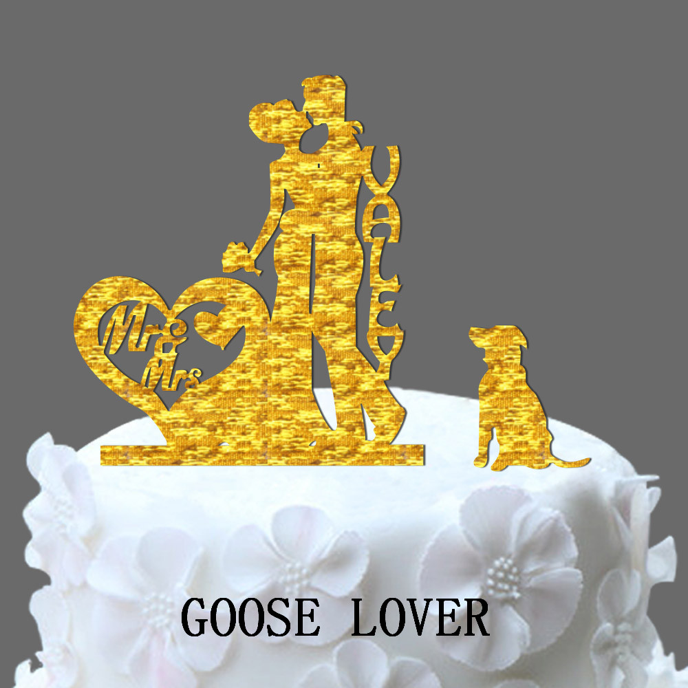 Glitter Golden&Silver Mr and Mrs Cake Topper Wedding Elegant Wedding ...