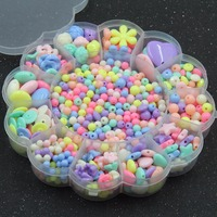 Bán buôn 1 Box Rất Nhiều Kẹo Màu DIY Thủ Công Kết Hợp Acrylic Hạt Hoa đối với Trang Sức Làm Vòng Tay Necklaces