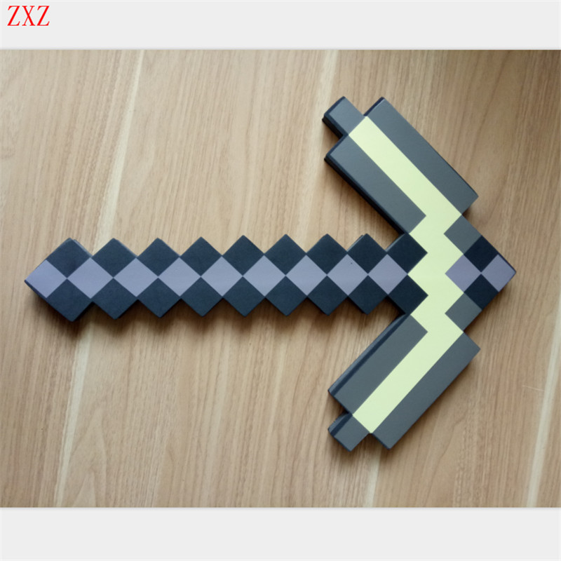 Collocation Game Toy Minecraft EVA Foam Diamond Sword Weapons Model Mosaic Sword/Pickaxe/Axe  Model Toys Brinquedos for Kids Gif fouriers hb mb008 n2 320 carbon fiber ud mountain bike straight handlebar 31 8x750mm 170g 9 degrees