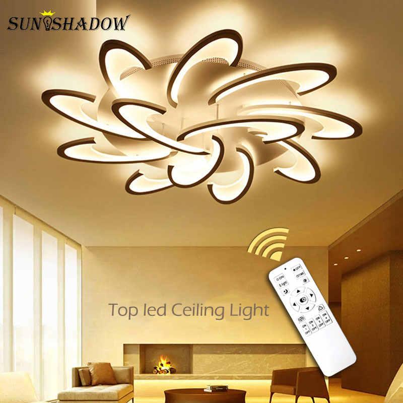Plafonnier поверхностный светодиодный потолочный светильник для гостиной спальни кухни блеск акриловый светодиодный Люстра потолочная лампа белый свет тела