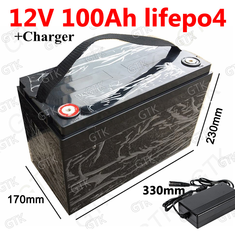 Gtk Waterproof L12v 100ah Lifepo4 Batterie With 100a Bms
