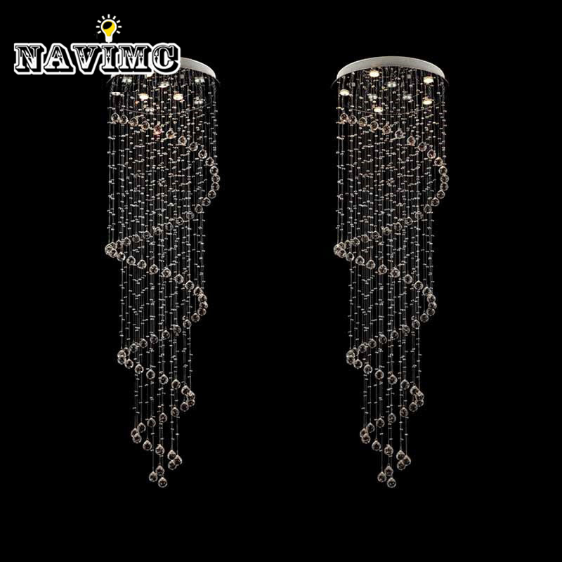 Free shiping top sales modern lustre k9 chandelier spiral stair light crystal lamp Dia60cm*H250cm free shiping crystal