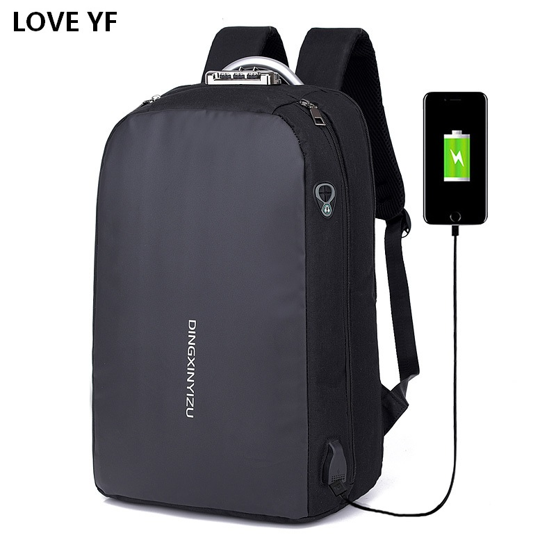 Backpack For Teenagers Multifunctional Waterproof Computer Backbag USB Port Student School Bags College Bags For Women