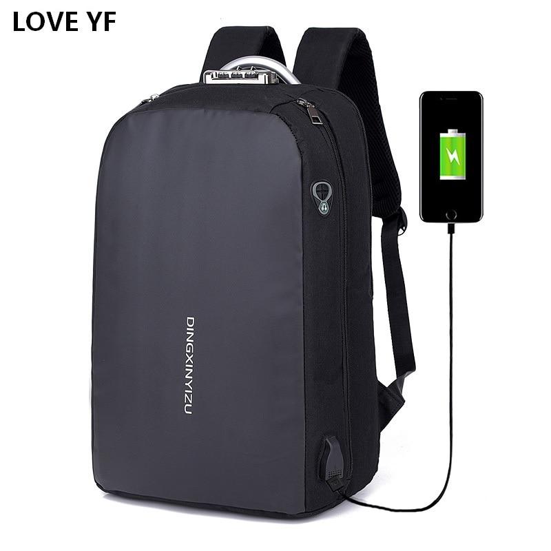Backpack For Teenagers Multifunctional Waterproof Computer Backbag USB Port Student School Bags College Bags For Women