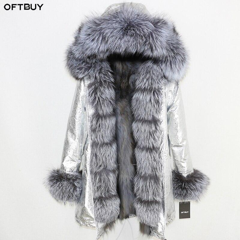 OFTBUY 2019 Long Parka Winter Jacket Women Real Fox Natural Raccoon Fur Collar Coat Thick Warm Outerwear Streetwear Detachable
