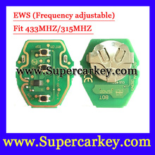 Бесплатная доставка (10 шт.) EWS Дистанционного Ключа Плате 315 МГц или 433 МГц регулируемый 2-в-1 Для BW