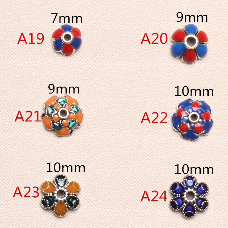 Hot Fashion 50pcs/lot Small Receptacle DIY Antique Silver Beads Caps Accessories Jewelry Findings & Components