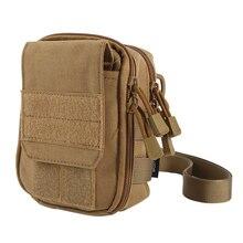 Outdoor Military Molle Sport Bag Utility Travel Waist Bag Sling Shoulder Bag Hiking Jogging Running Pouch Pockets
