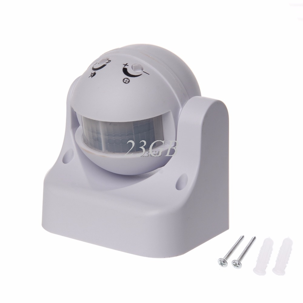 110-240V 180 Degrees Outdoor IP44 Security PIR Infrared Motion Sensor Detector Movement Switch J24 new 180 degree security pir infrared motion sensor detector movement switch white automatic convenient durable