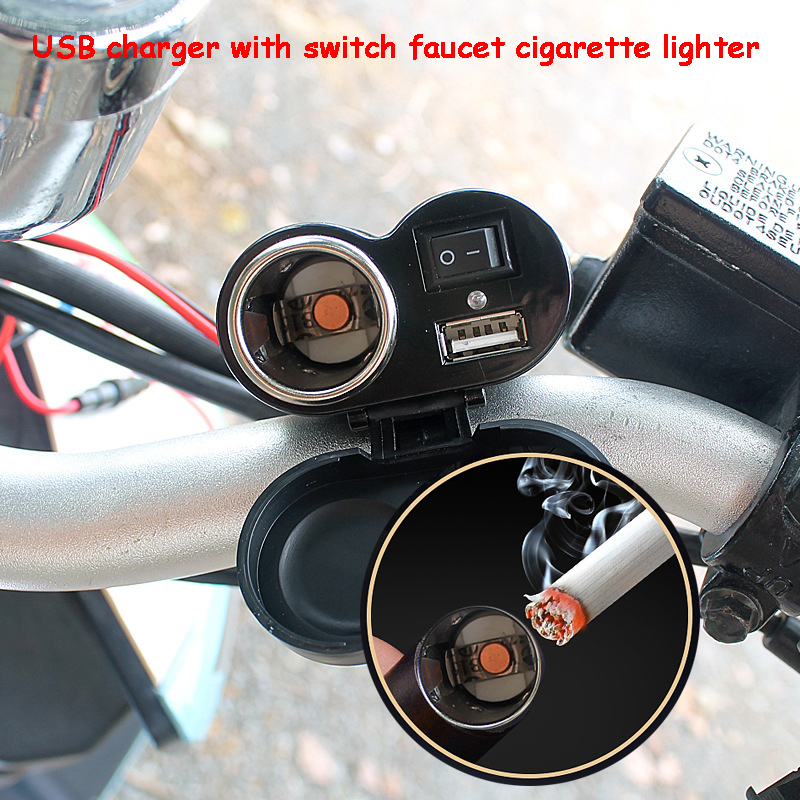 Motorcycle accessories waterproof USB2.1 mobile phone <font><b>charger</b></font> <font><b>cigarette</b></font> lighter seat GPS <font><b>car</b></font> <font><b>charger</b></font> power supply <font><b>12v</b></font> dfdf image