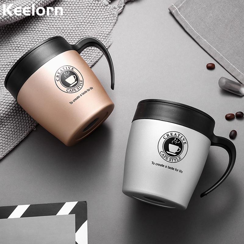 Keelorn Hot Sale Double Wall Stainless Steel Kopi Thermos Cup Mugs - Dapur, makan dan bar - Foto 4