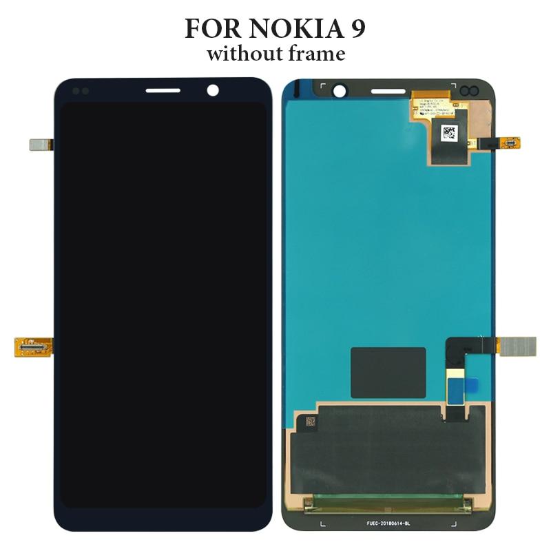 100% prueba sin píxeles muertos para Nokia 9 lcd pantalla 2018 versión para teléfono móvil lcd montaje de pantalla reemplazo de reparación negro - 2