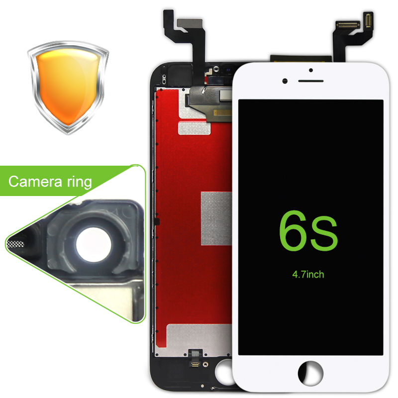 ФОТО Best Match White/Black 5PCS Grade AAA LCD display Touch Screen Glass digitizer for iPhone 6s no dead spots Free Dhl 3D Touch