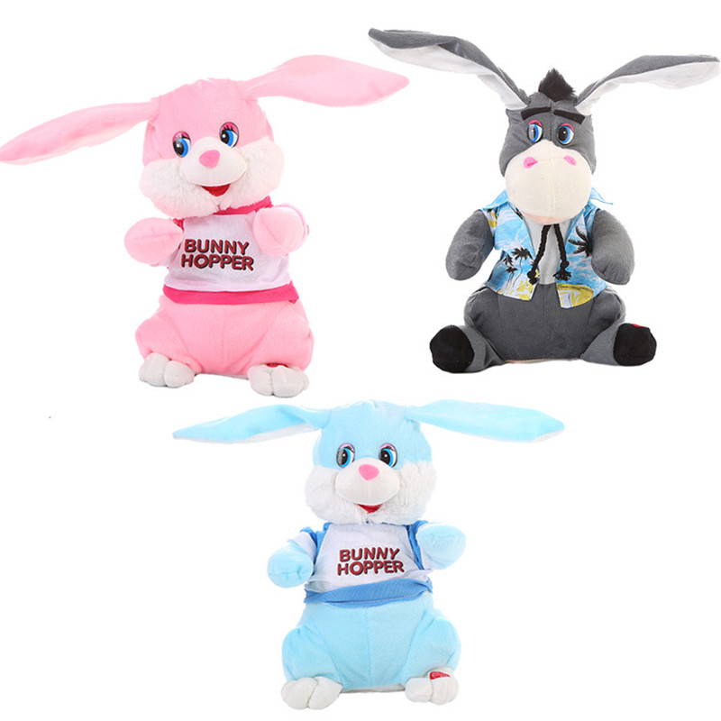 30cm Electric Dancing Donkey Robot Plush Toy Rabbit Singing Toys Swing Robot Toy Model Electric Musical Action Figures Toys