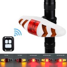 Waterproof Safety Bike Light Smart Remote Wireless Cycling Seat Mount Lamp Turn Signal Warning Rear