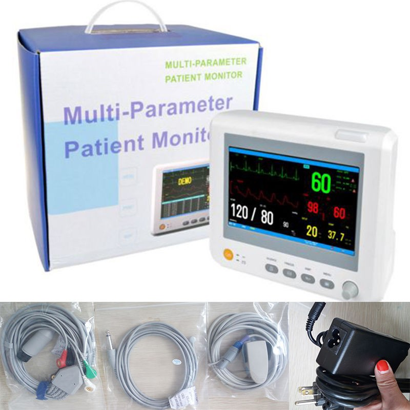 Image 4 - TUV&CE,Sending by DHL,Accessories Completely,7inBlood Pressure ICU Modular Patient Monitor parameter NIBP,S-in Blood Pressure from Beauty & Health