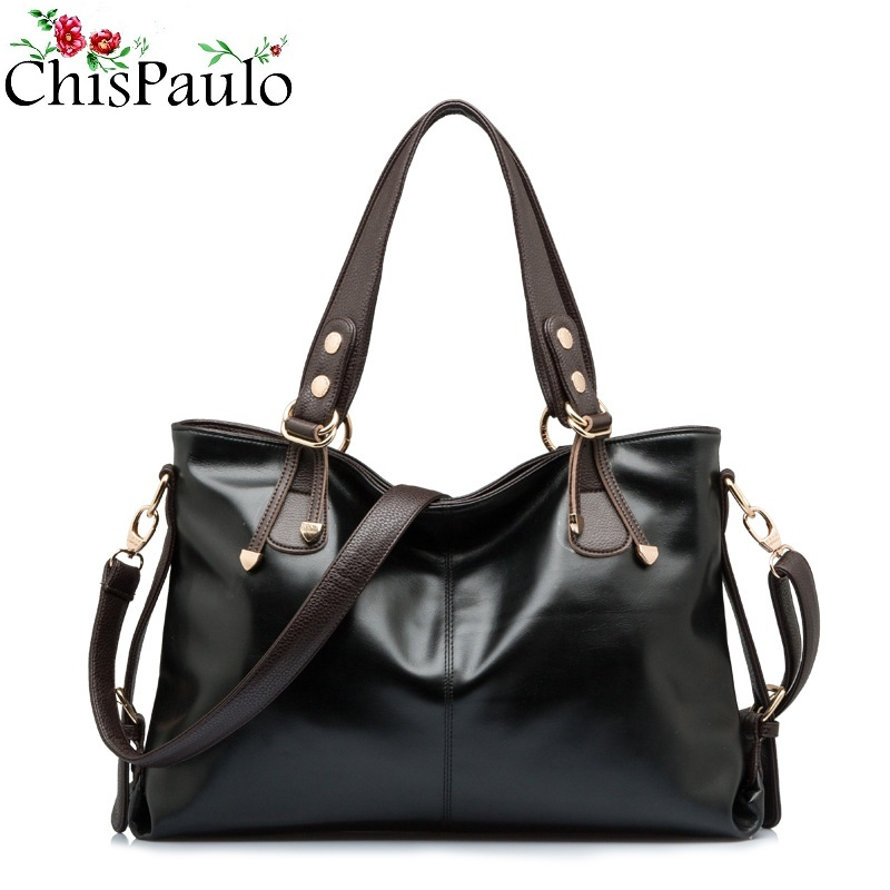 CHISPAULO Famous Brands Designer Fashion Women's Genuine Leather Handbags Vintage Women Messenger Shoulder Crossbody Bags X12