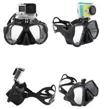 Schwarz silikon Kamera Tauchen Maske zu Gopro XIAOMI SJ KAMERAS eingebaute Montieren Tauchen maske Erwachsene tauchen maske Top schnorchel getriebe