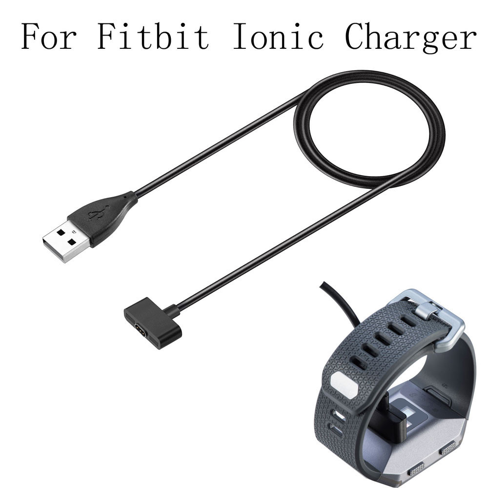 CARPRIE 100 CM Replacement Charger USB Charging Cable Charger Cable Cord For Fitbit Ionic 2019 Big