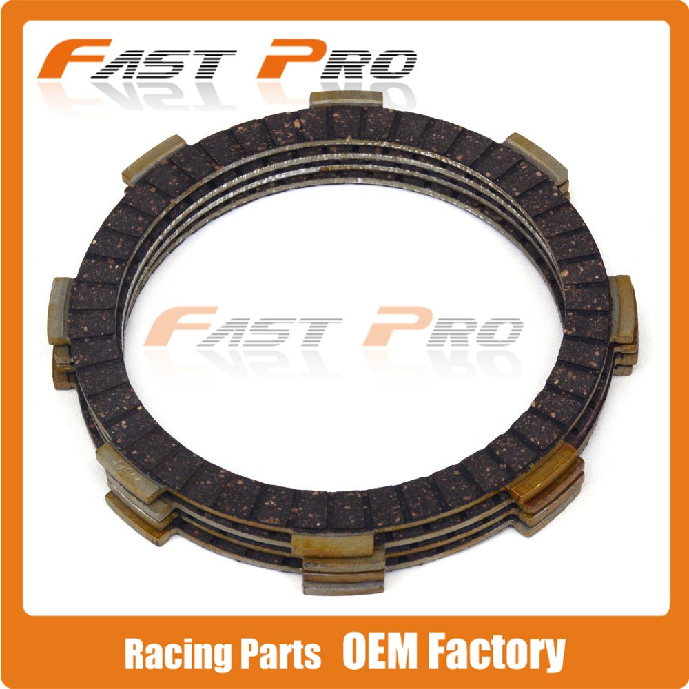 4 Pcs Clutch Plate Disc Set Friction For HONDA <font><b>NSR50</b></font> CR60R TRX90 XR100 XZ100 TRX125 ATC125 ATC200 ATC200ES TRX200 Motorcycle image