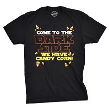 Come to Dark Side We Have Candy Corn Halloween T shirt Harajuku Tops t Fashion Classic Unique free shipping