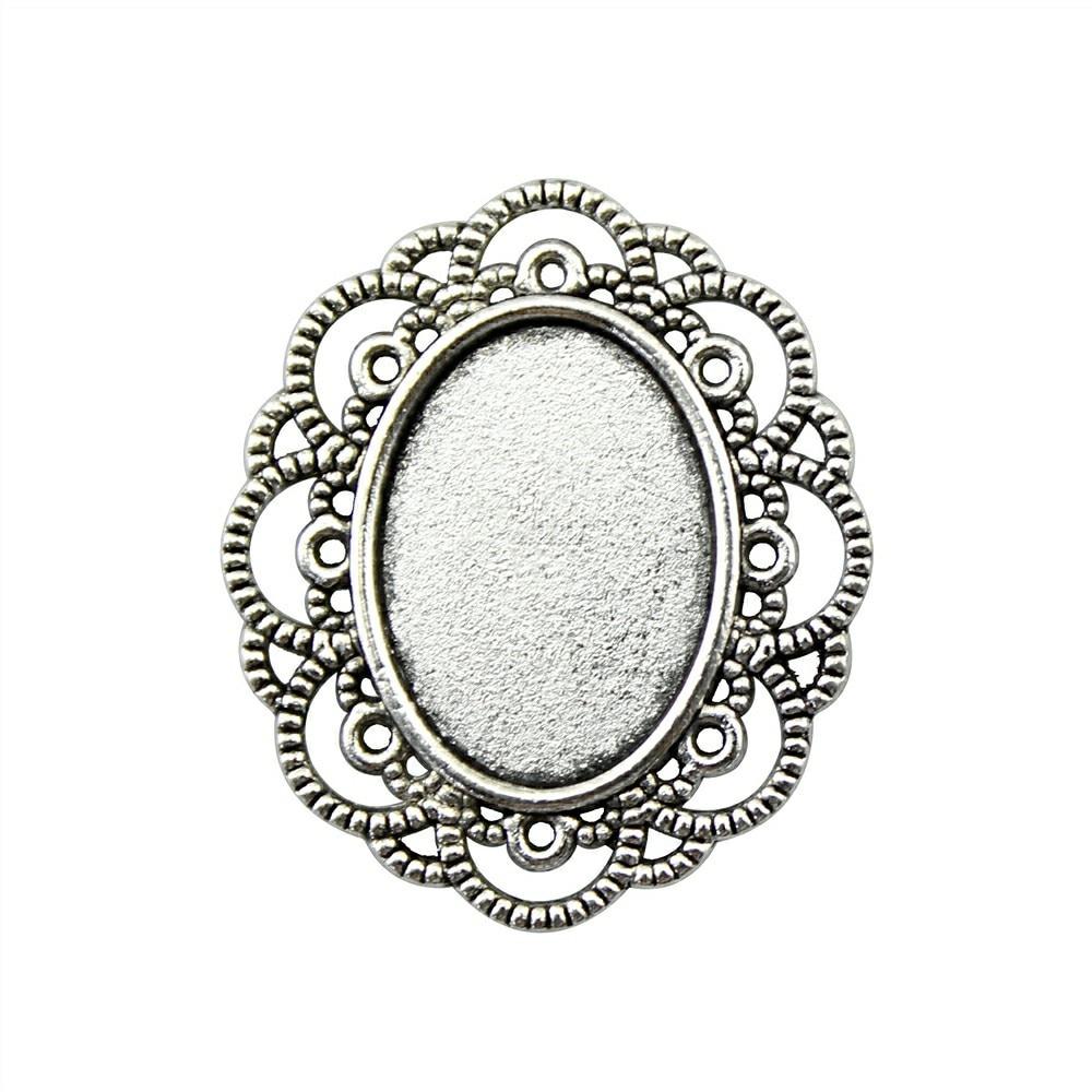 20 шт. 13 x мм 18 мм Внутренний размер, внешний размер 29×25 мм Винтаж античное серебро, античная бронза цвет цинковый сплав Камея Кабошон База настройки