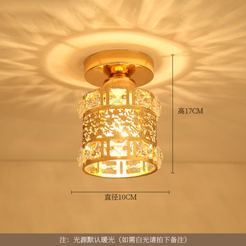 Artpad Modern LED Crystal Ceiling Light for Entrance Corridor Balcony Aisle Decor Surface Mount Square Round Gold Ceiling Lamp 20