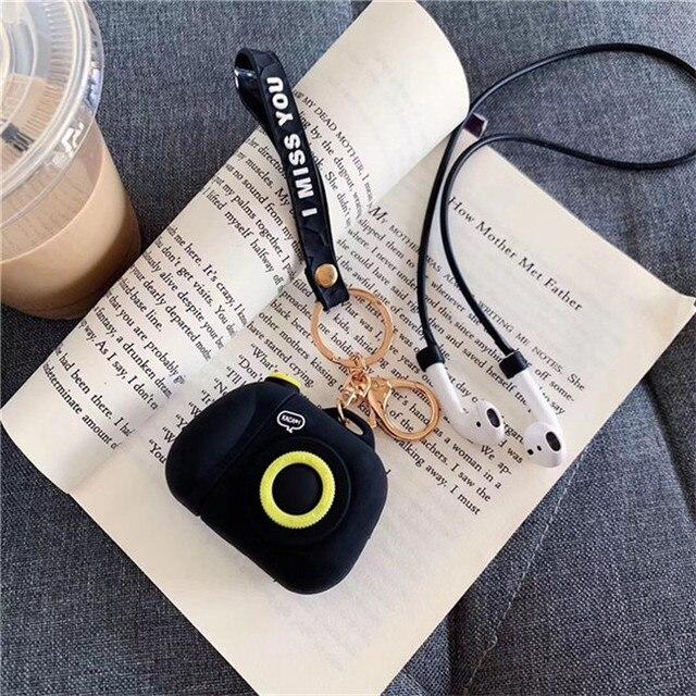 Мультяшный беспроводной Bluetooth чехол для наушников для Apple AirPods силиконовый зарядный чехол для наушников s защитный чехол для Airpods