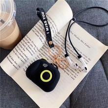Cartoon bezprzewodowy futerał na słuchawki Bluetooth do Apple AirPods silikonowe etui na słuchawki do pokrowca ochronnego Airpods