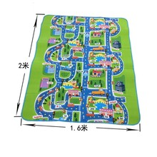 City Road Carpets For Children Play Mat For Children Carpet Baby Toys Rugs Developing Play Puzzle Mat Mats Goma Eva Foam mats(China)