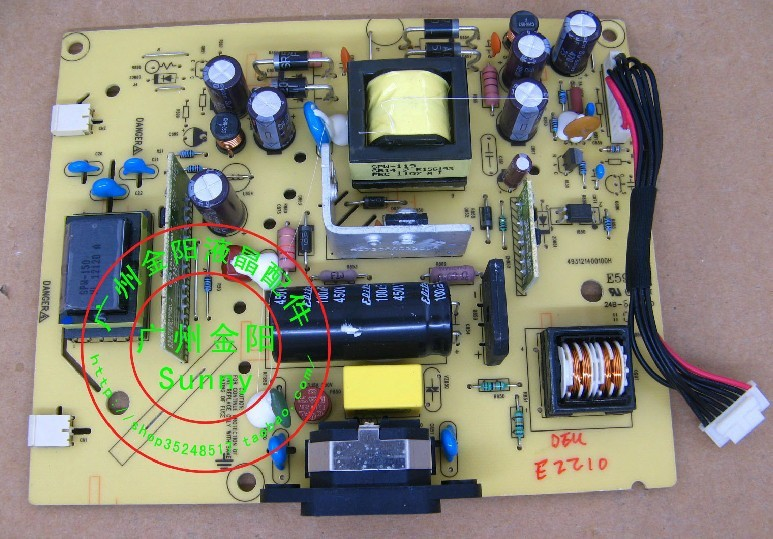 Free Shipping> E2210  E2210 power supply board pressure plate ILPI-167-Original 100% Tested Working free shipping original c lwm930 la760 power board pu lwm930 pressure plate jsi 190401b original 100% tested working