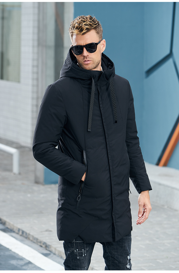 Enjeolon Brand Winter Jacket Men Long Parka Jacket Thick Hat Parka Coat Men Quilted Winter Jacket Coat Clothes MF0060 14