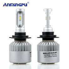 ANMINGPU 2x H4 Led Headlight Bulbs 72w 6500K 9004 9007 9008 9005 9006 H1 H11 Led H7 16000lm/Pair CSP Chips Car Light Fog Lamps(China)