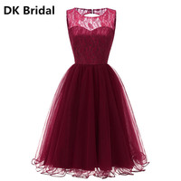 Sexy Halter Lace A line Bridesmaid Dresses Burgundy Appliques Beaded Lace up Bridal Prom Dress Party Gowns Maid Of Honor Dress