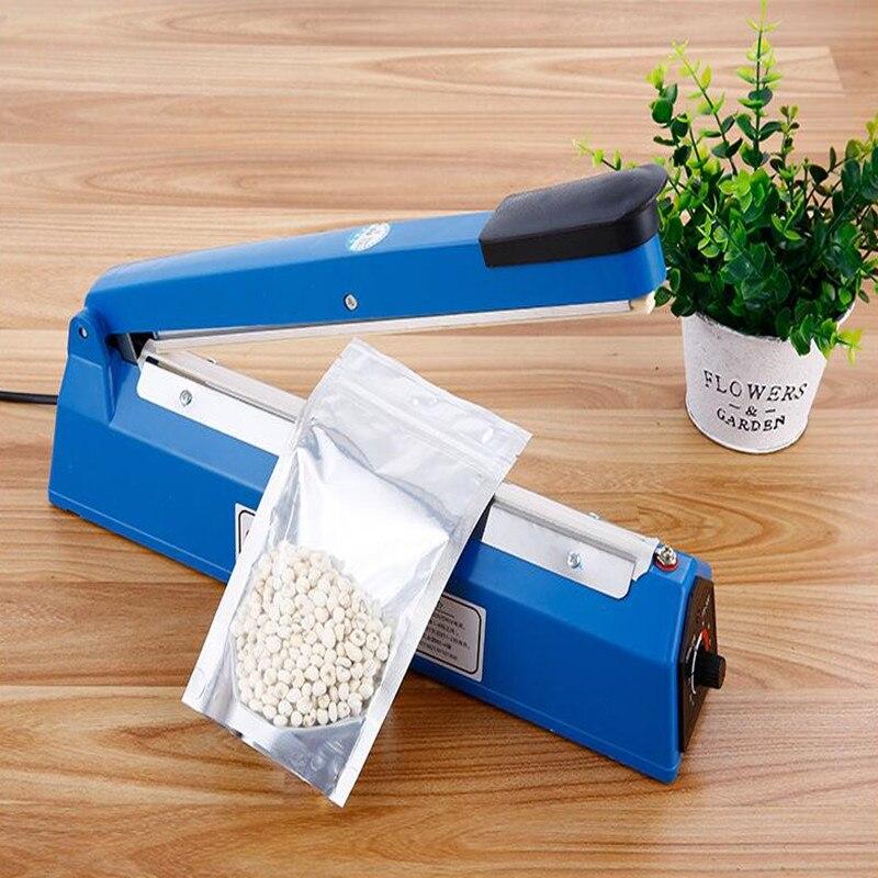 220V Impulse Sealer Hand Heat Sealing Machine Plastic Film Sealer Bag Closer Teflon Sealer Kitchen Storage