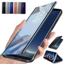 Умный зеркальный флип-чехол для телефона Samsung Galaxy A70 A50 A40 A30 A20 A10 S8 S9 Plus, чехол-подставка для M10 M20 M30, чехлы